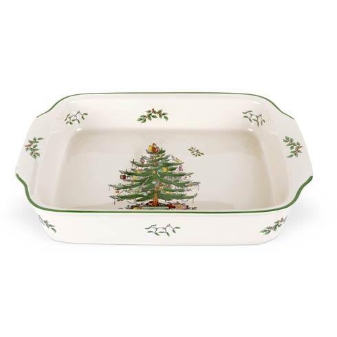 Spode Christmas Tree  Bakeware Rectangular Handled Dish $118.00