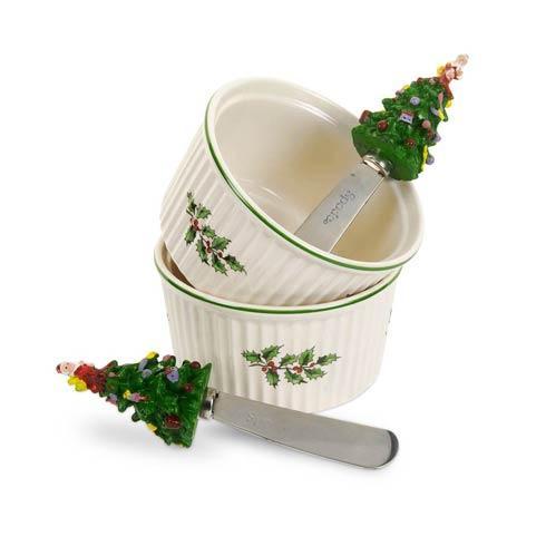 Spode Christmas Tree  Serveware/Giftware Dipping Set $53.00