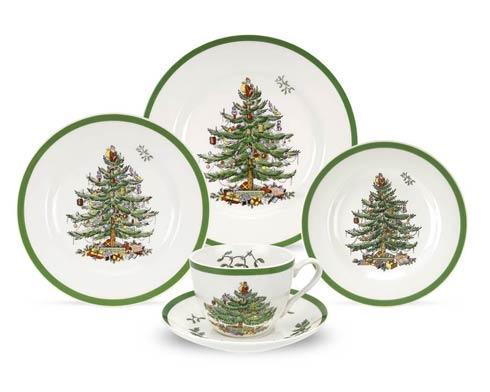 Spode Christmas Tree  Dinnerware/Entertaining 5-Pc Placesetting $78.50