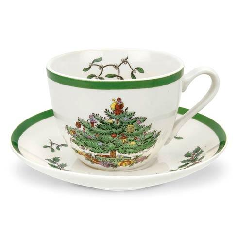 Spode Christmas Tree  Dinnerware/Entertaining Teacup  & Saucer $27.50
