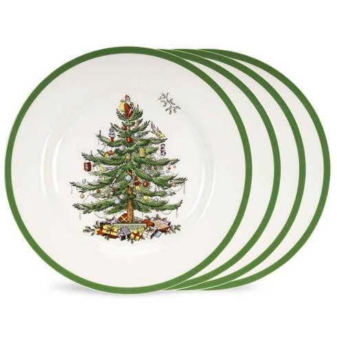 Spode Christmas Tree  Dinnerware/Entertaining Set of 4 Salad Plates (Gift Boxed) $54.99