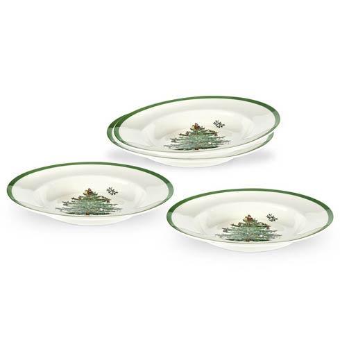 Spode Christmas Tree  Dinnerware/Entertaining Set of 4 Soup Plates (Gift Boxed) $117.50