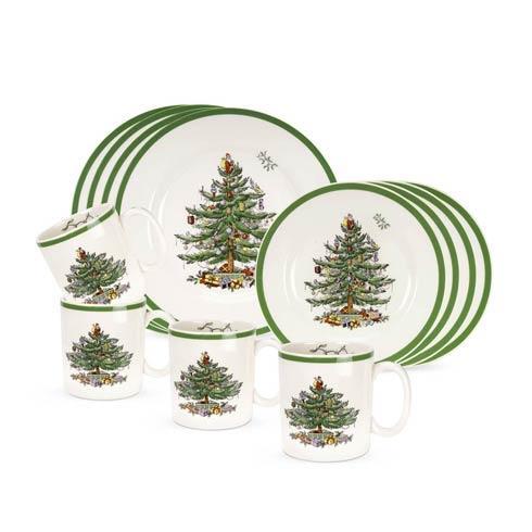 Spode Christmas Tree  Dinnerware/Entertaining 12-Pc Set $210.00