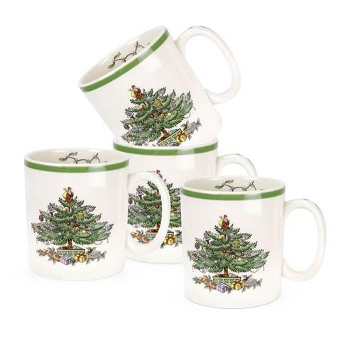 Spode Christmas Tree  Dinnerware/Entertaining Set of 4 Mugs (Gift Boxed) $59.96
