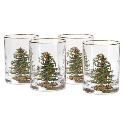 Spode Christmas Tree  Glassware Set of 4 Double Old Fashioned  $44.50