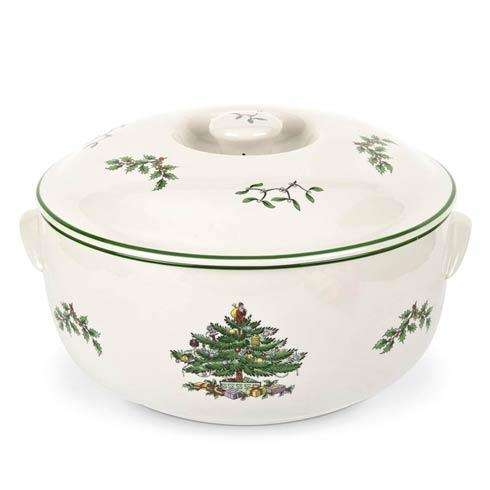 Spode Christmas Tree  Bakeware Round Covered Casserole $63.00