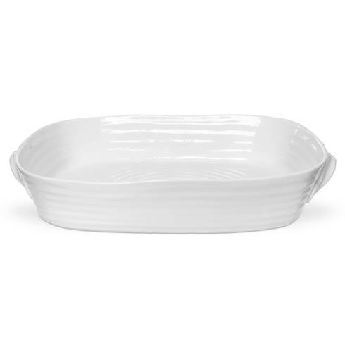 Portmeirion  Sophie Conran White Large Handled Rectangular Roasting Dish $56.00