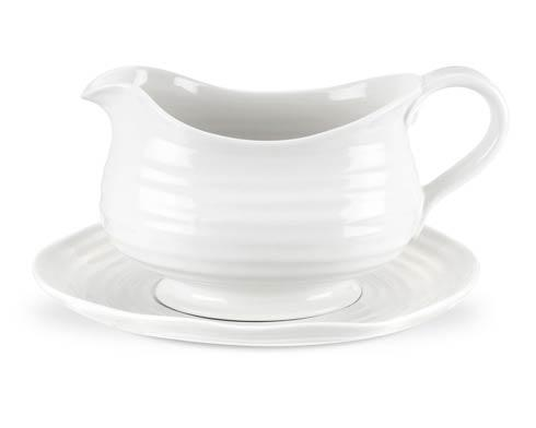 Portmeirion  Sophie Conran White Gravy Boat and Stand $38.50