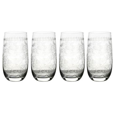 Portmeirion  Botanic Garden Hi Ball Glasses - Set of 4 $80.00