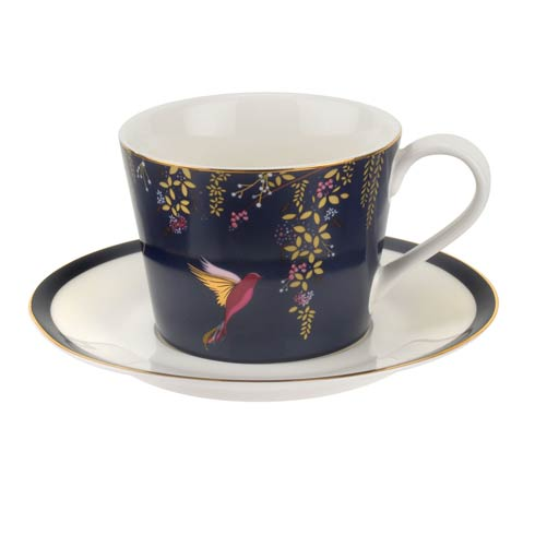Portmeirion Sara Miller London Chelsea Collection Tea Cup & Saucer - Navy $19.99