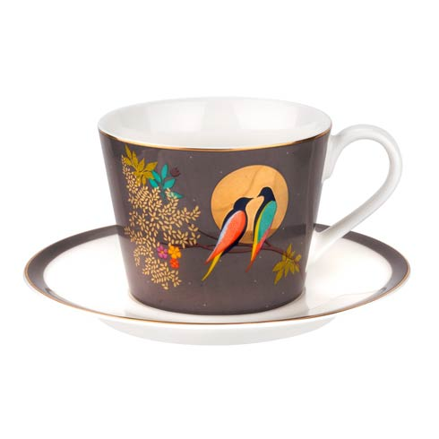 $19.99 Tea Cup & Saucer - Dark Grey
