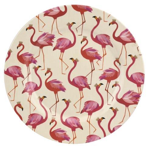 Portmeirion Sara Miller London Flamingo Collection 11 Inch Melamine Dinner Plates - Set of 4 $57.15
