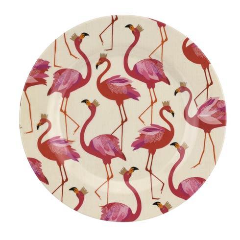 Portmeirion Sara Miller London Flamingo Collection 8 Inch Melamine Salad Plates - Set of 4 $42.85