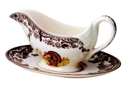 Spode Woodland Turkey Collection Sauce Boat and Stand $168.00