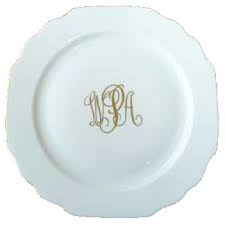 The Pine Needle Exclusives   Pickard Georgian Gold Butter Plate Monogrammed $48.00