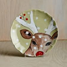 The Pine Needle Exclusives   Casafina Deer Friends salad plate $26.00