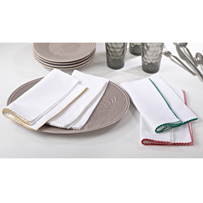$9.95 Napkin-Whip Stitched Gold