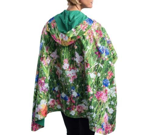 $59.95 Rain Cape-Clover with Wildflowers