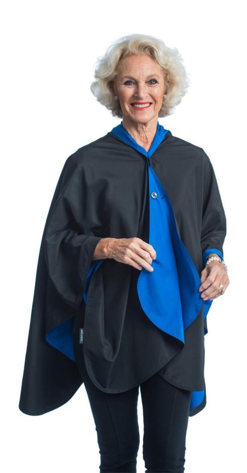 Rain Cape-Black/Cobalt collection with 1 products