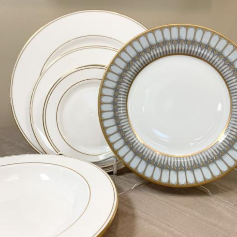Federal Gold with Arcades Grey five piece place setting collection with 1 products