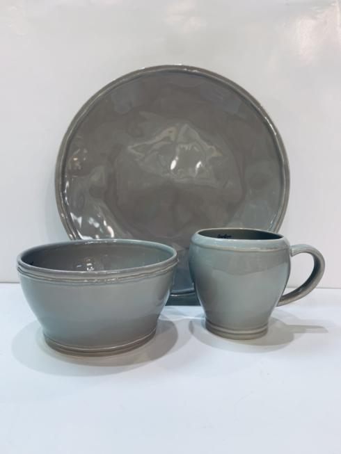 Pieces of Eight Exclusives   Fontana Dove Gray by Casafina Three Piece Place Setting $65.00