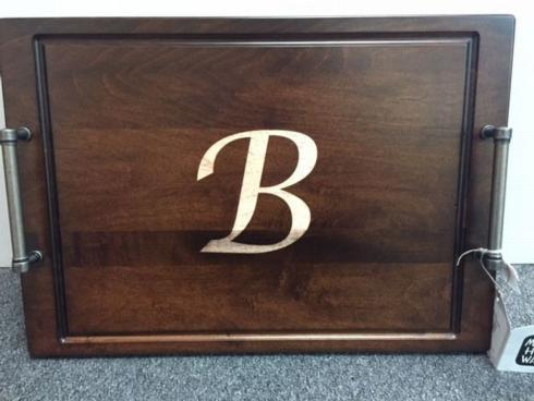 Serving Tray/Pewter Handles-Monogrammed collection with 1 products