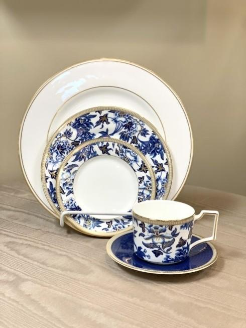 Pieces of Eight Exclusives   Federal Gold with Hibiscus 5 Piece Place Setting $148.00