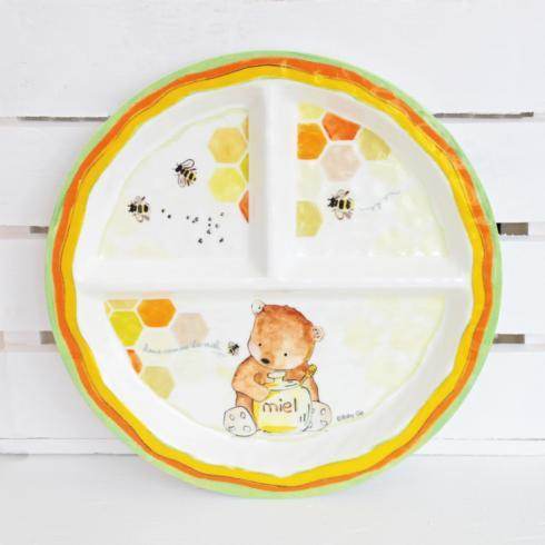 $15.95 Sectioned Plate-Doux/Miel