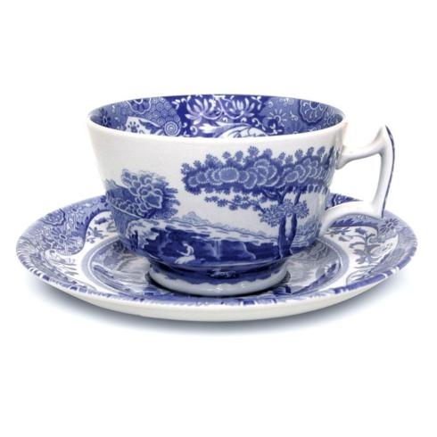 Pieces of Eight Exclusives   Blue Italian Cup & Saucer $28.80