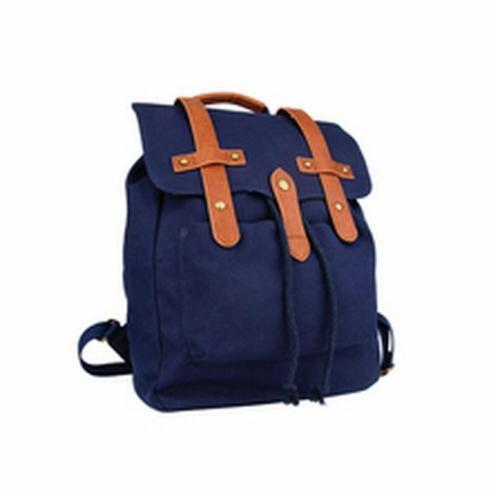 $98.00 Backpack, Navy Canvas
