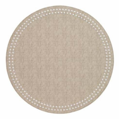 Pieces of Eight Exclusives   Placemat-Pearl Beige/White $35.00
