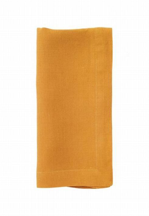 Pieces of Eight Exclusives   Riviera Napkin-Saffron $18.95