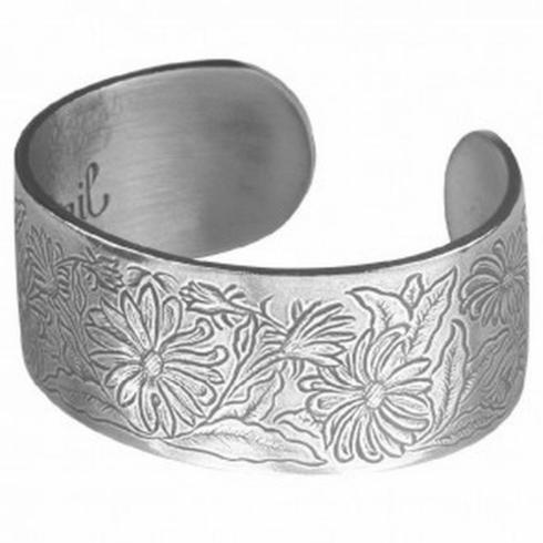 Pewter Flower Bracelet-April collection with 1 products