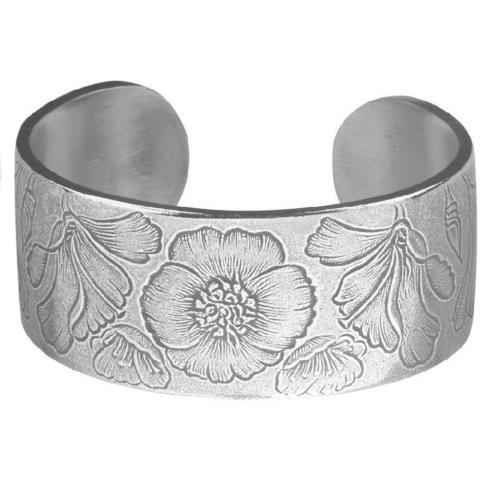 Pewter Flower Bracelet-August collection with 1 products