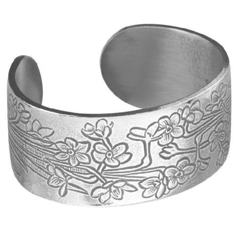 Pewter Flower Bracelet-December collection with 1 products