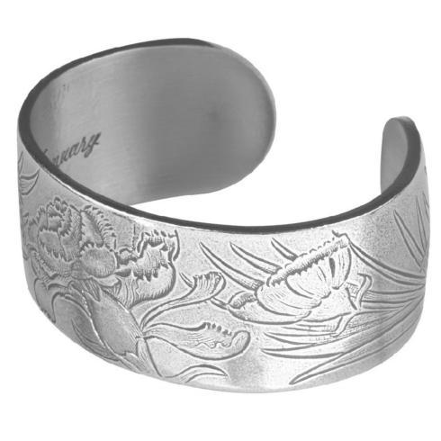Pewter Flower Bracelet-January collection with 1 products