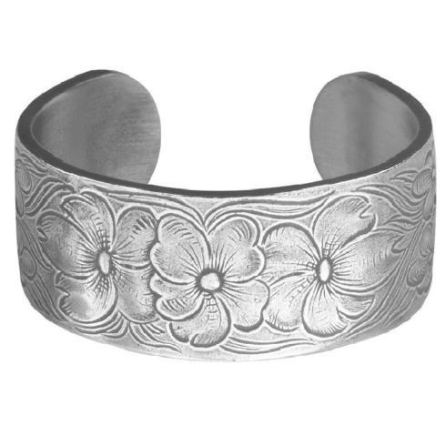Pewter Flower Bracelet-July collection with 1 products