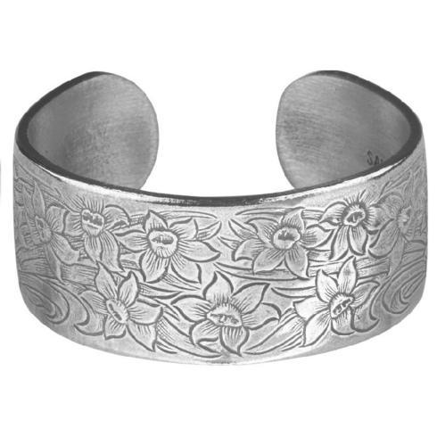 Pewter Flower Bracelet-March collection with 1 products