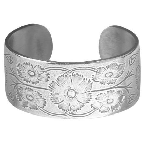 Pewter Flower Bracelet-October collection with 1 products