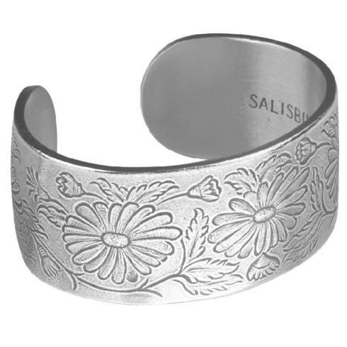 Pewter Flower Bracelet-September collection with 1 products