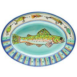 Pieces of Eight Exclusives   Trout Fish Platter $85.00