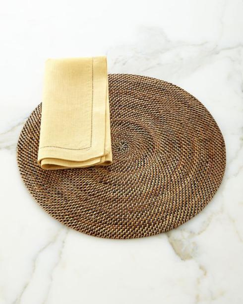 Pieces of Eight Exclusives   Round Woven Placemat $39.50