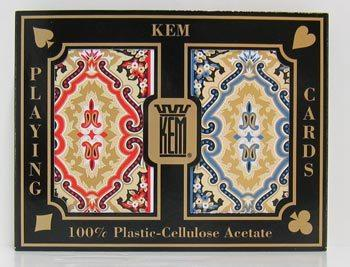 $39.95 Kem Cards-Paisley red/blue