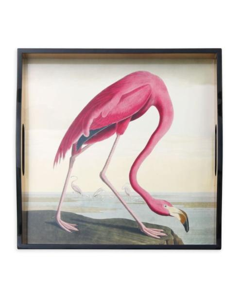 $125.00 Flamingo Square Tray-Audubon