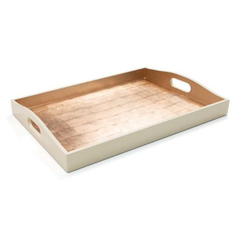 Laquer Tray-gold/ivory collection with 1 products
