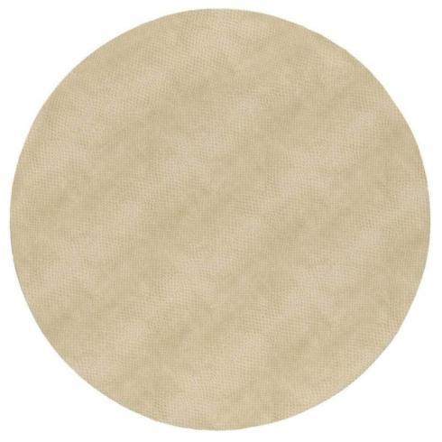 $14.95 Placemat-Ivory Snakeskin Round