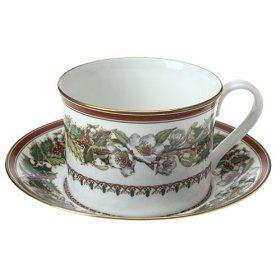 $54.99 Christmas Rose Cup & Saucer-Discontinued