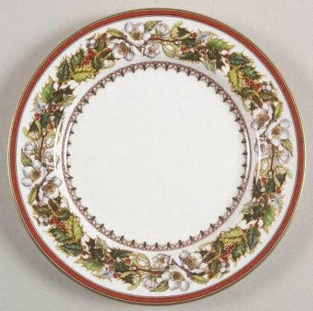 $24.99 Christmas Rose Salad Plate-Discontinued