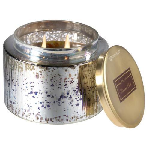 $47.00 Cinnamon Cider Lg Candle-Metallic