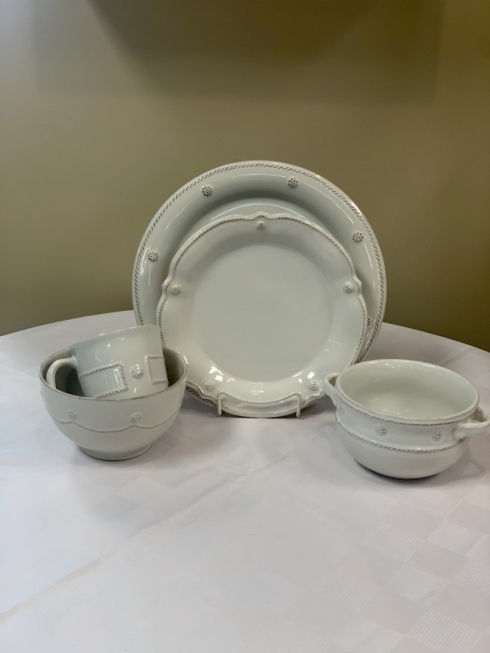 Pieces of Eight Exclusives   Berry & Thread Whitewash 5 piece place setting $194.00